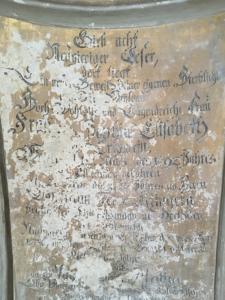 Grabstein in der Frauenkirche Mühlberg