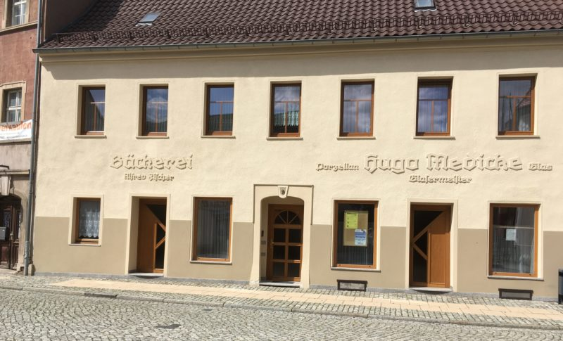 Denkmal für zwei Geschäfte