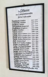 Lampertswalde, Liste der Pfarrer