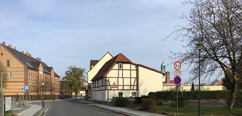 Geschwister-Scholl-Schule und Fleischerei Lehmann