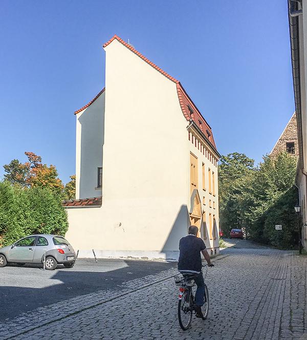 Großenhain, Braugasse mit Pulverturm