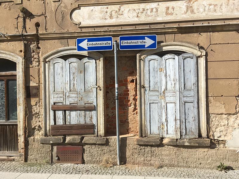 Einbahnstrasse Siegelgasse, ehem. Bäckerei Mager