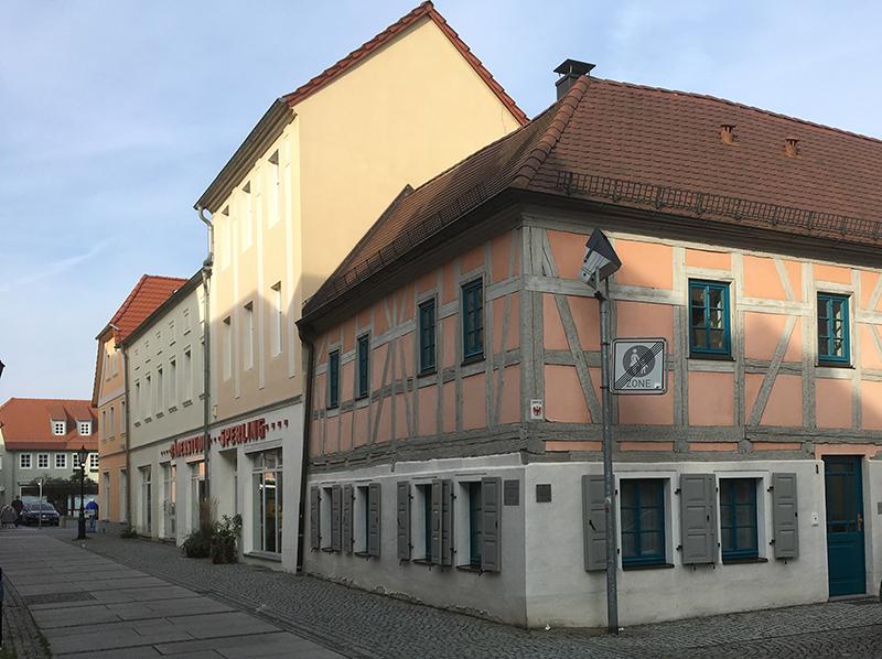 Ruhland, denkmalgeschütztes Fachwerkhaus