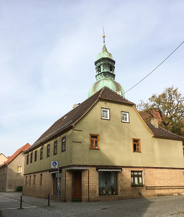 Ruhland, grünes Haus