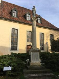 Ruhland, Kriegerdenkmal an der Kirche
