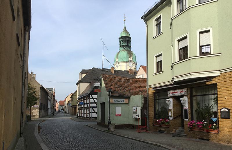 Ruhland, Schützengrill und Kirche