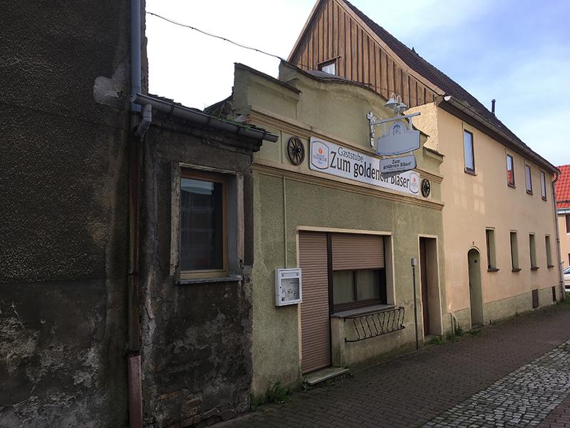 Ruhland, ehemaliges Gasthaus Zum Goldenen Bläser